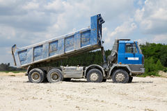 Freight trucks with dump body Stock Image