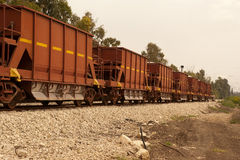 Freight wagon. Train loaded with grains royalty free stock photography