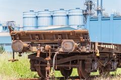 Freight wagon rail Stock Photo