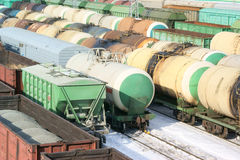 Freight wagons Royalty Free Stock Photo