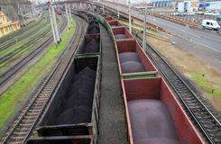 Freight wagons Stock Images