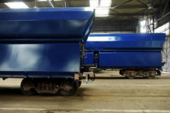 Freight wagons factory Stock Images