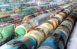 Freight Wagons, HDR Royalty Free Stock Image
