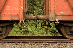 Freight wagons. Ready to connect Stock Photography