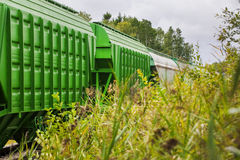 Freight wagons and tanks Royalty Free Stock Photos