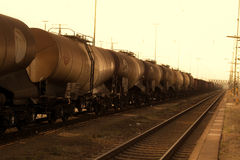 Freight wagons Stock Image