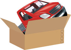 Freight on wheel delivery merchandise parcels Royalty Free Stock Photos