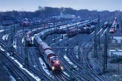Freight yard Stock Photo