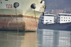 The freighter close-up Stock Photography