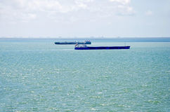 Freighter in the Kerch Strait Stock Image