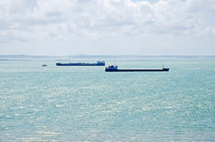 Freighter in the Kerch Strait Royalty Free Stock Photos