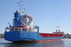 Freighter on Kiel Canal Stock Photography