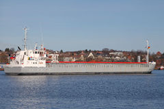 Freighter on Kiel Canal Royalty Free Stock Images