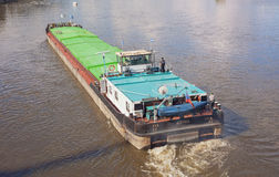 Freighter on Lake elbe in Dresden Royalty Free Stock Images