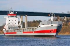Freighter na Kiel kanale Obraz Royalty Free