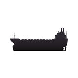 Freighter ship boat. Illustration graphic design Royalty Free Stock Photo