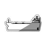 Freighter ship boat. Illustration graphic design Royalty Free Stock Image