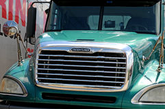 Freightliner柴油卡车 免版税库存图片
