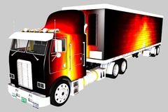 Freightliner. The highway fire freightliner 1 Royalty Free Stock Photography