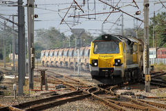 Freightliner class 70 diesel locomotive at work. Stock Images