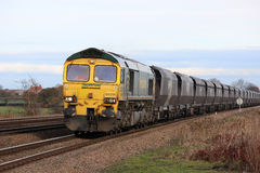 Freightliner coal train at Bolton Percy near York Stock Photo