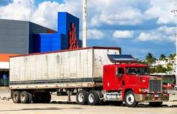 Freightliner FLD Royaltyfri Fotografi