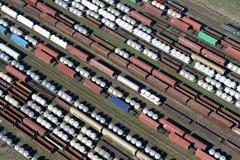 Freightliners van de trein Stock Afbeeldingen