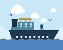 Freigther ship  draw Stock Photography