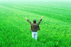 Freiheit der Männer auf dem Rasen Stockbilder