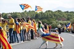 Freiheit für Katalonien Stockfotografie