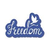 Freiheit Inspirierend Zitat über glückliches Stockfoto