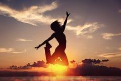 Freiheit ist Glück stockbild