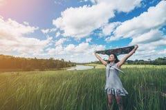 Freiheit mit Natur Stockbild