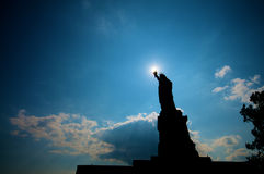 Freiheit-Statue-Schattenbild   Stockbilder