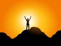 Freiheit und Erfolg Lizenzfreies Stockfoto