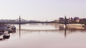 Freiheitbrücke, Budapest lizenzfreie stockbilder