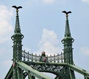 Freiheits-Brücke, Budapest, Ungarn Lizenzfreies Stockfoto