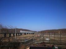 Freiheits-Brücke Nordkorea Stockbild