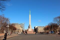 Freiheits-Denkmal in Riga lizenzfreie stockfotos