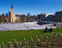 FREIHEITS-QUADRAT, TALLINN Lizenzfreies Stockfoto