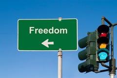 Freiheits-Zeichen Lizenzfreies Stockbild