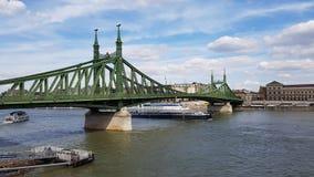 Freiheitsbrücke in Budapest Lizenzfreies Stockbild