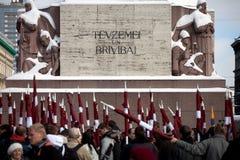 Freiheitsdenkmal in Riga Lizenzfreie Stockfotos