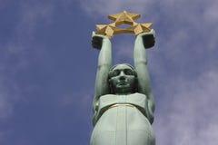 Freiheitsdenkmal in Riga, Lettland lizenzfreies stockbild
