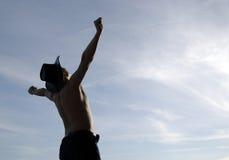 Freiheitshaltung Lizenzfreie Stockfotos