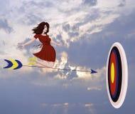 Freiheitspersonenjugendlichwolkenautos des Zielpfeiles Naturreisefliegenschönheits-Glückleute des weißen bewölken springende Stra Lizenzfreie Stockbilder