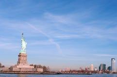 Freiheitsstatue in Manhattan, NY, USA stockbild