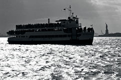 Freiheitsstatue New- Yorkhafen Stockfoto