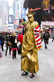 Freiheitsstatue Pantomimen Lizenzfreie Stockfotos