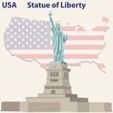 Freiheitsstatue u Stockfoto